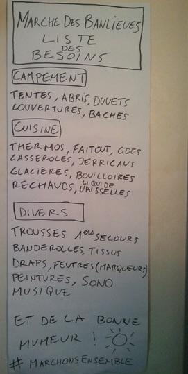 Liste des besoins | marches-banlieue | Scoop.it