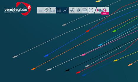 Vendée Globe 2016 : carte interactive en temps réel   DataViz   Scoop.it