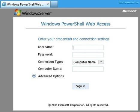 Windows PowerShell WebAccess | PowerShell | Scoop.it
