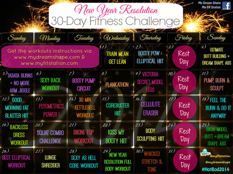 New Year's Resolution Fitness Challenge - January 2014 Workout Calendar | My Dream Shape! | Fitness | Scoop.it
