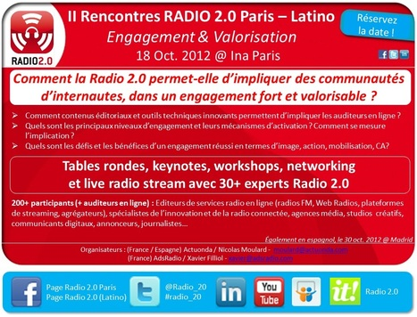 Radio 2.0 Paris-Latino le 18 oct @Ina Paris : Réservez la date ! | Radio 2.0 (En & Fr) | Scoop.it