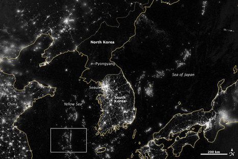 Korea and the Yellow Sea : Image of the Day | Thinking Geographically | Scoop.it
