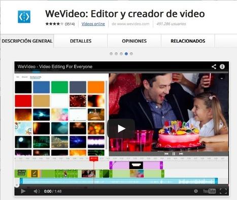 WeVideo: editor y creador de video | Infografía. Google Chrome y sus extensiones en la Educación | Scoop.it