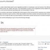 Les cours en ligne de Coursera bloqués en Syrie, en Iran et à Cuba ... | Les MOOC, Cours en ligne ouverts et massifs | Scoop.it