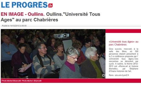 Oullins : Université Tous Ages au parc Chabrières | décembre 2012 | Le Progrès | ARTIS MIRABILIS : toute la revue de presse | Scoop.it