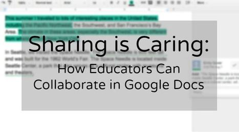 Sharing is Caring: How Educators Can Collaborate in Google Docs | Imagine Easy Solutions | Edtech | Scoop.it