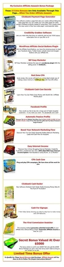 Affiliate Assassin Review - 15 Affiliate Boosting Bonuses | Affiliate Assassin Reviews | Scoop.it