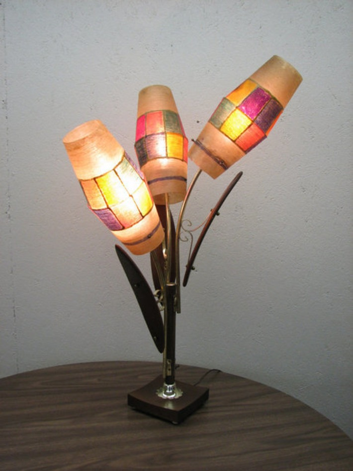 3 fiberglass shades lamp | Kitsch | Scoop.it