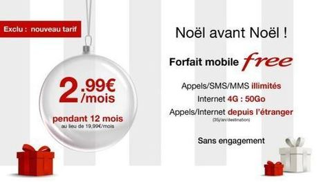 Bon Plan : Free propose son forfait mobile Free de 50Go à 2,99€/mois ! | Freewares | Scoop.it