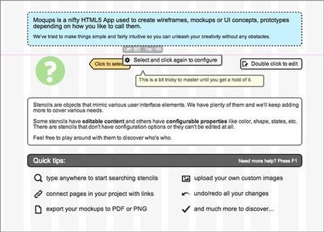 Moqups : une application pour faire la maquette d'un site | Time to Learn | Scoop.it