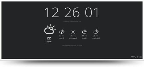 Remplacer l'écran « nouvel onglet » par l'heure et la météo sur Google Chrome   Time to Learn   Scoop.it