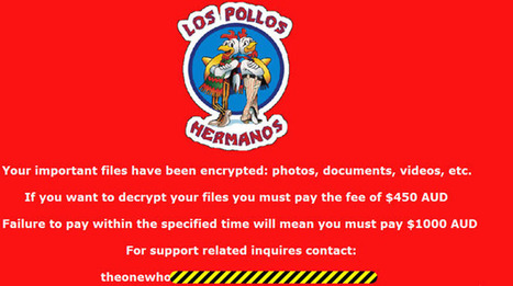 New Breaking Bad ransomware holds your computer hostage | News | Geek.com | Cutting Edge Technology, Amazing Futurology, and Epic Geekology | Scoop.it