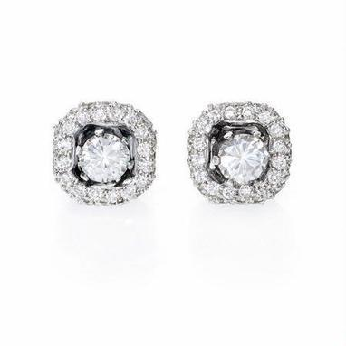 Diamond 18k White Gold Earring Jackets | Exquisite Earrings | Scoop.it