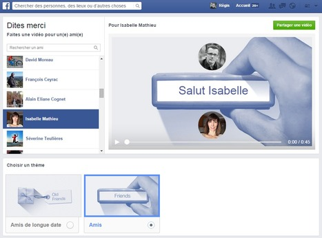 "Dites ""Merci"" avec Facebook... 