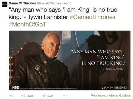5 Storytelling Lessons From Game of Thrones | Social Media, SEO, Mobile, Digital Marketing | Scoop.it