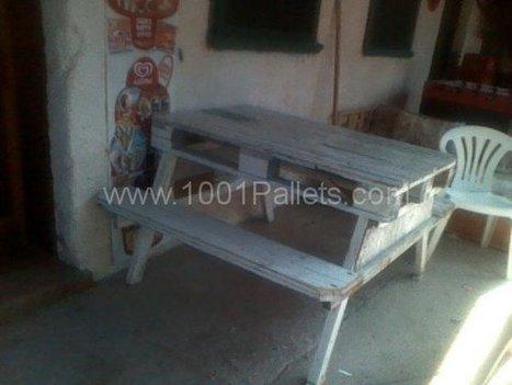 Pallet Picnic table | DIY | Scoop.it