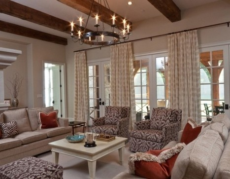 Soothing Vintage Living Room Accented with Candle-like Chandelier's Crowning Touch | Simple Decorating Ideas For Home | Scoop.it