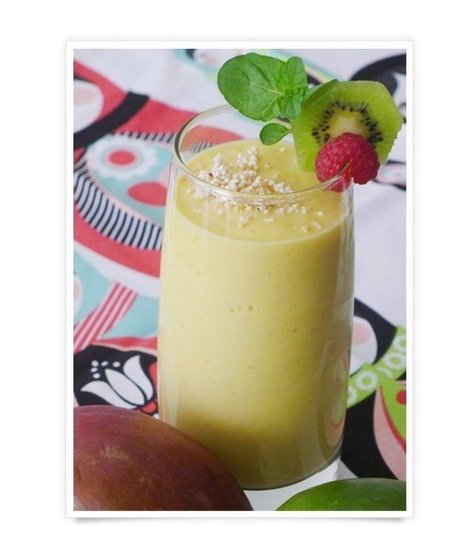 11 Healthy Tropical Smoothie Recipes  - Mango Yogurt Smoothie with Amaranth - mom.me | Healthy Eating - Recipes, Food News | Scoop.it