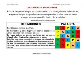 Altas Capacidades Jugamos a los Logogrifos y anagramas | HABLANDO EN CONFIANZA | Scoop.it