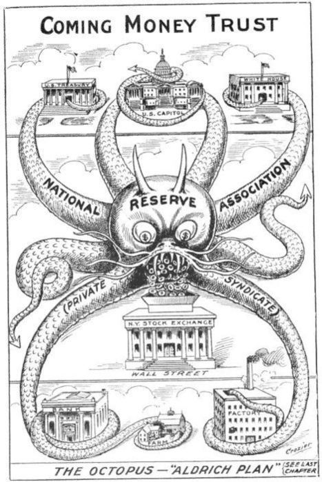 Cartoon from 1912, one year before the creation of the Federal Reserve… amazing. | Countdown to Financial Armageddon | Scoop.it
