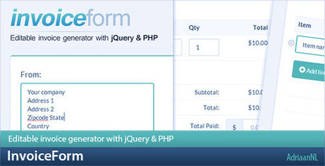 InvoiceForm – Editable invoice generator (Forms) | PHP Scripts Download | Scoop.it