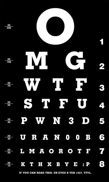 OMGWTF Eye Chart | Alt Digital | Scoop.it
