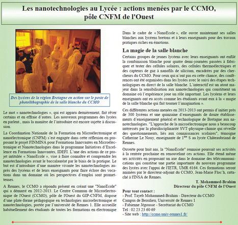 Les nanotechnologies au lycée | revues de presse | Scoop.it
