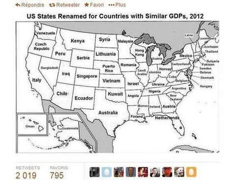 La carte qui permet de comprendre le poids économique des Etats-Unis   Lets Talk Finance France   Scoop.it
