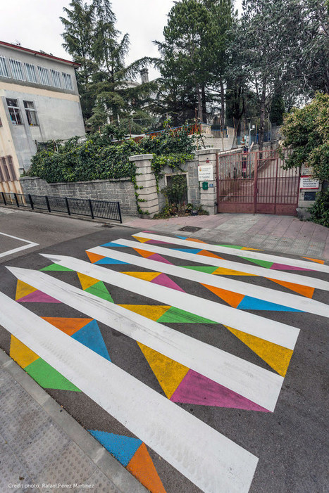 #Madrid's #Crosswalks Are Getting a #Fun and #Colourful Makeover. #art #streetart #publicart | Luby Art | Scoop.it