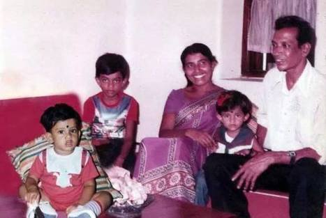 (Photo) Young Sachithra Senanayake with his family | Best of Island Cricket | Scoop.it