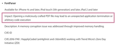 Opening a PDF on your iPhone could infect it with malware | #Update asap!!! | Apple, Mac, MacOS, iOS4, iPad, iPhone and (in)security... | Scoop.it