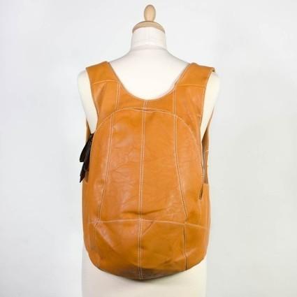 Sac à dos marron camel coutures contrastantes   Accessoires de mode femme   Scoop.it