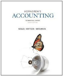 Test Bank For » Test Bank for Horngrens Accounting The Managerial Chapters, 10th Edition : Nobles Download | Accounting Online Test Bank | Scoop.it