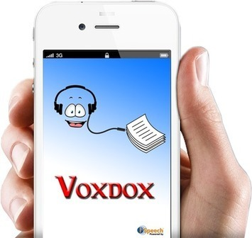 Voxdox - Text To Speech App   ipad2learn #iPad #E-Learning #schreiben #lernen #m-learning   Scoop.it