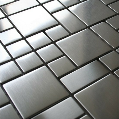 D co carrelage inox murs sols cuisin for Calepinage carrelage sol