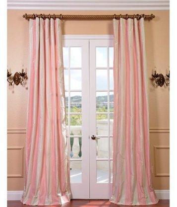 Annabelle Pink Taffeta Stripe Curtains   Window Treatments   Scoop.it