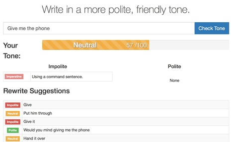 Politeness checker | Tools for Teachers & Learners | Scoop.it