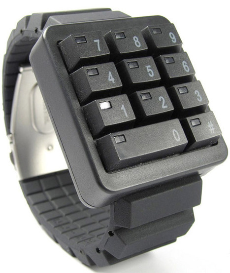 Click Keypad LED Watch: Time to Push Some Buttons | All Geeks | Scoop.it