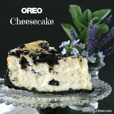 Oreo Cheesecake Recipe #cheesecake #cheesecakerecipes #oreos #desserts | Recipes. Food and Cooking | Scoop.it