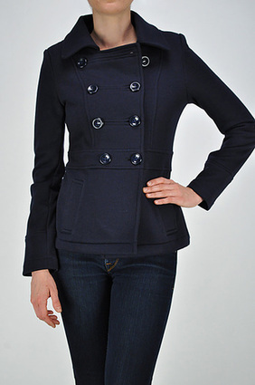 FRENCH TERRY DOUBLE BREASTED PEACOAT | SAVE UPTO 60% | FREE SHIPPING | Women's Clothing at Bvira.com | Scoop.it