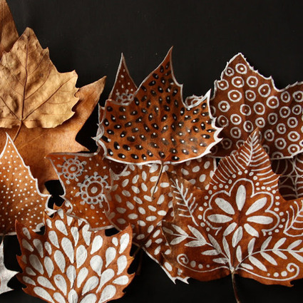 Beautiful crafts on autumn leaves | The Miracle of Fall | Scoop.it