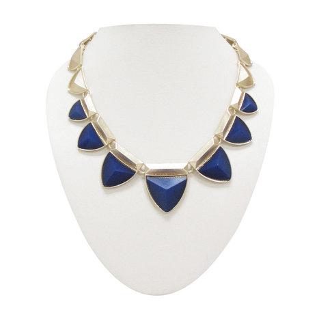 Smoke dark blue stoned neon necklace SMNK508   Online Shopping in India   Scoop.it