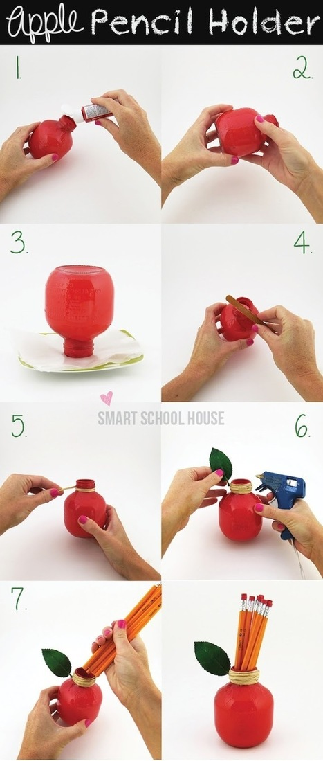 Smart School House: Craft and DIY Blog Site: Back to School Apple (VIDEO) | back to school | Scoop.it