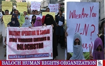BHRO protested against the Pakistani military operation in Gidar, protesters urged UN to immediately intervene | Human Rights and the Will to be free | Scoop.it