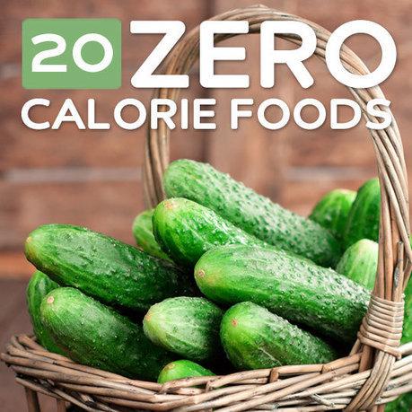 20 Zero Calorie Foods to Help You Slim Down | zestful living | Scoop.it