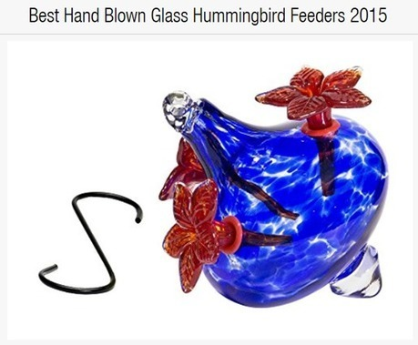 Best Hand Blown Glass Hummingbird Feeders | Home And Family | Scoop.it