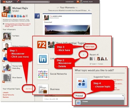 4 step Guide How to change influential Klout topics | formation 2.0 | Scoop.it