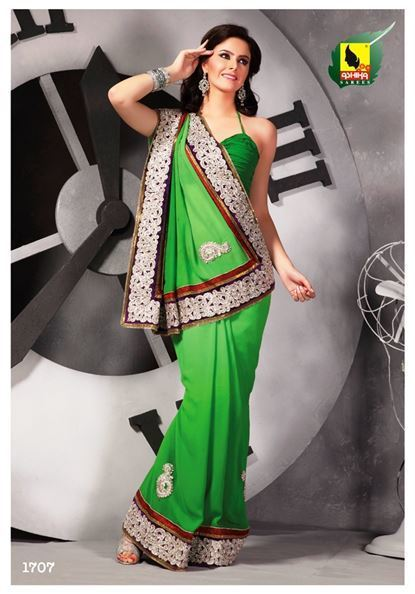 Pretty party wear saree for pretty ladies | Indian Women Clothing | Scoop.it