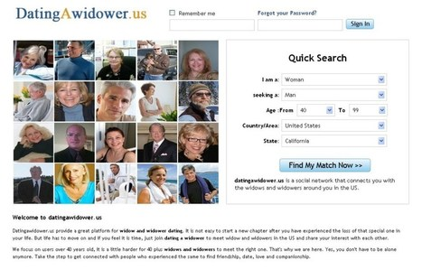 DatingAWidower.us - A Newly Launched Website Caters to the Widows and Widowers Looking for Companions | Widows and Widowers dating | Scoop.it