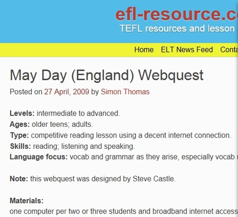 May Day (England) Webquest | efl-resource.com | English for International Students | Scoop.it